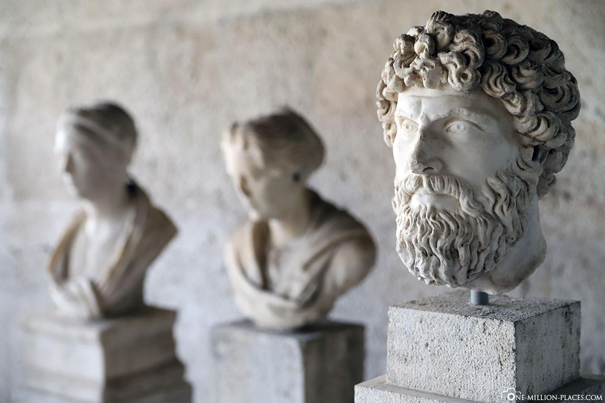 Ausstellung, Stoa des Attalos, Athen, Athener Agora, Griechenland, Sehenswürdigkeiten, Reisebericht, Fotospot