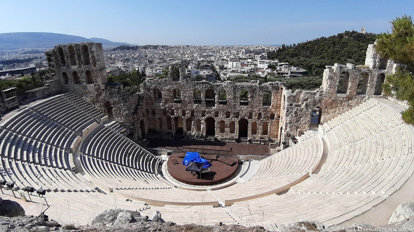 Odeon des Herodes Atticus, Theater, Akropolis, Athen, Reisebericht