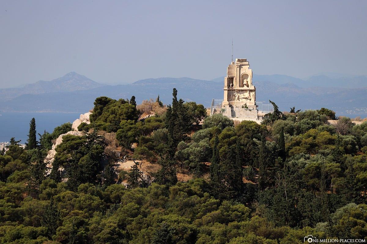 Philopapposmonument, Athen, Sehenswürdigkeiten, Reisebericht