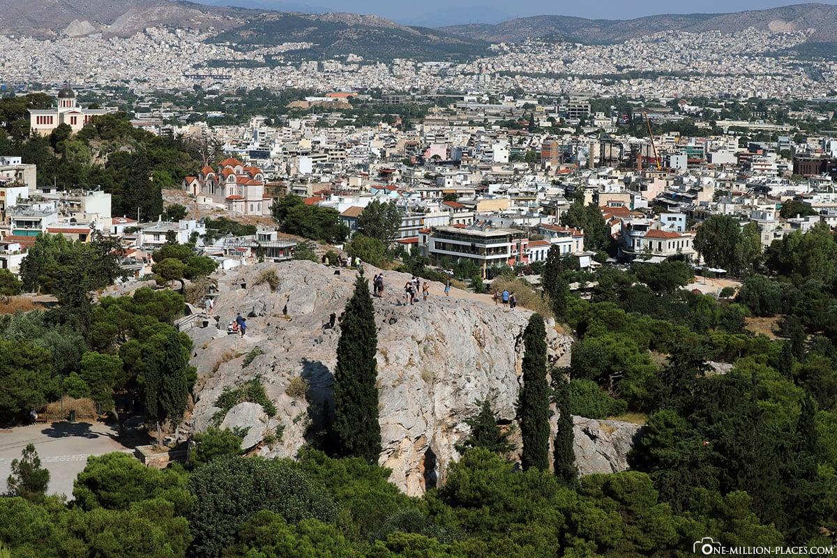 Areopagus Hill, Akropolis, Athen, Hügel