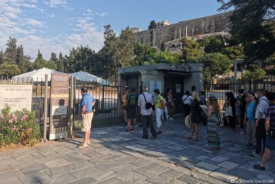 The south-eastern entrance to the Acropolis