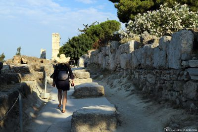 The way up to the Acropolis