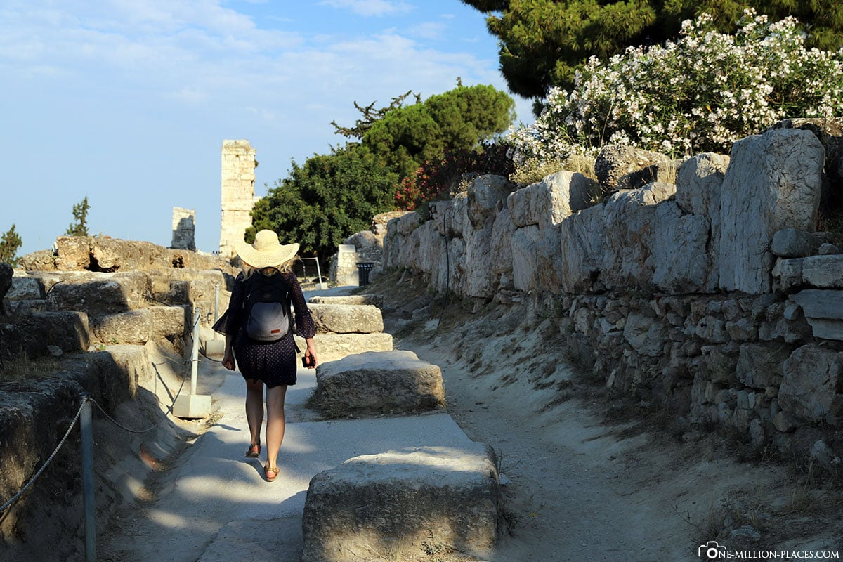 Weg zur Akropolis, Athen, Eingang