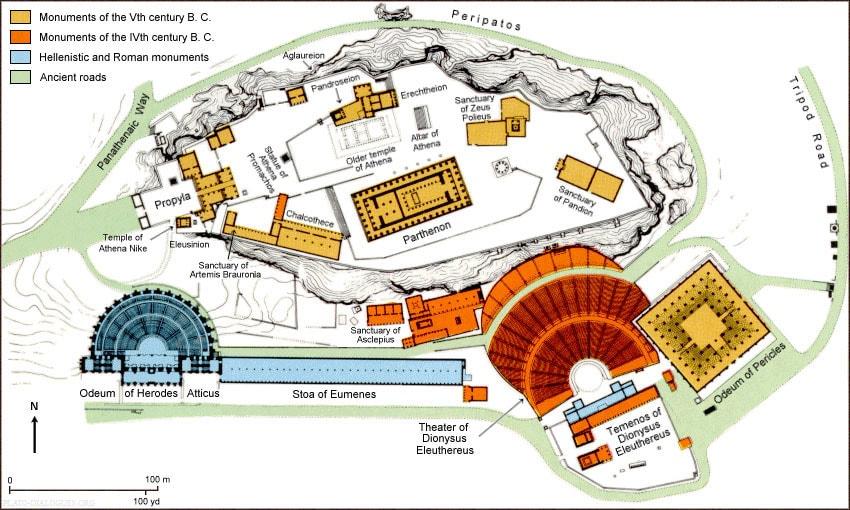 Akropolis Athen Karte