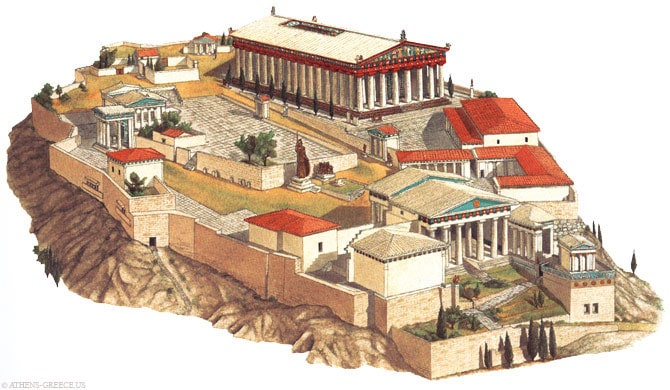 Reconstruction of the Acropolis of Athens