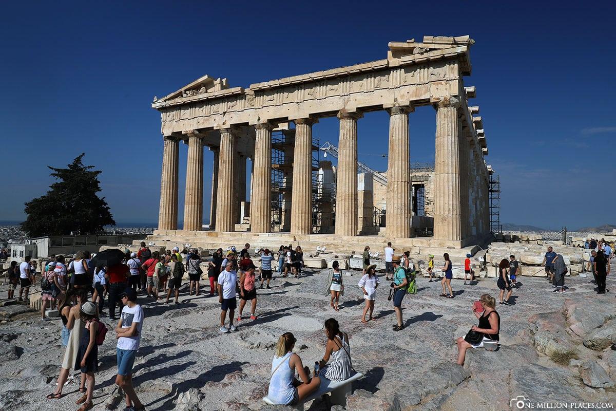 Parthenon, Akropolis, Athen, Besuchermassen, Beste Zeit, Reisebericht