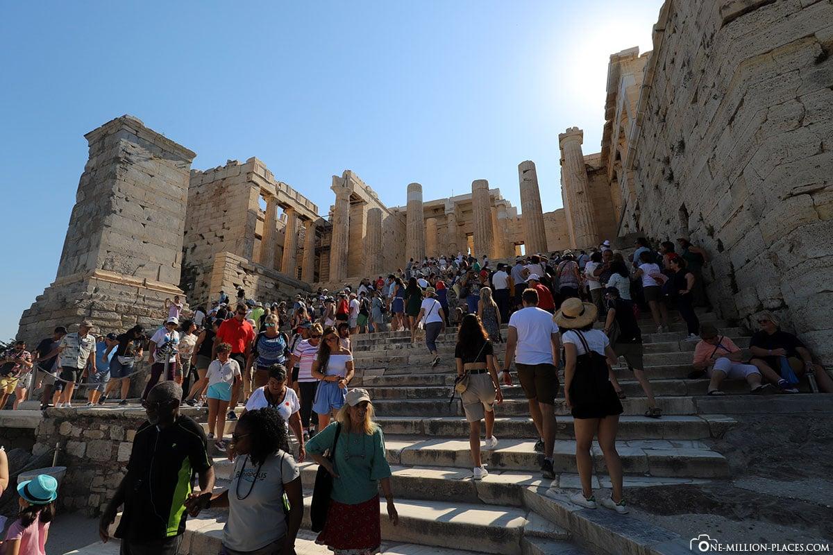 Akropolis, Athen, Besuchermassen, Beste Zeit, Reisebericht