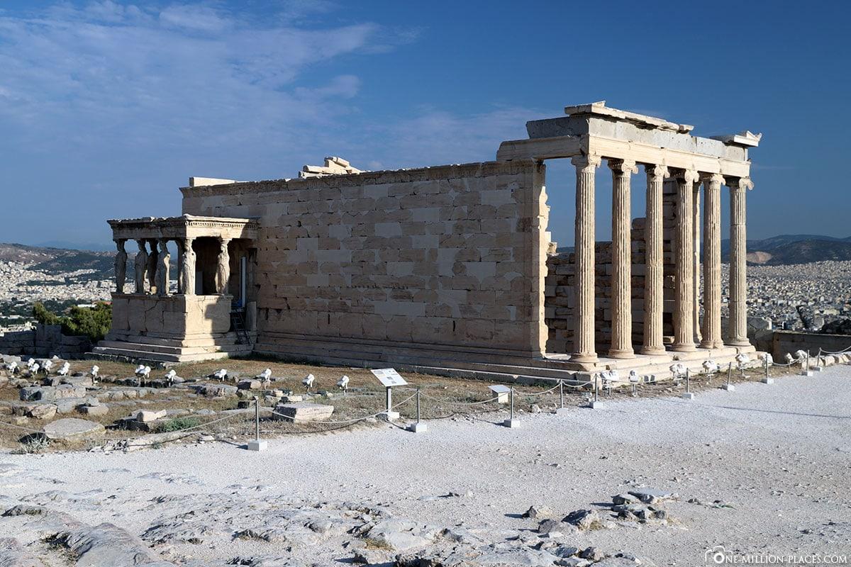 Tempel, Karyatiden, Akropolis, Athen, Griechenland, Reisebericht, Blogbeitrag