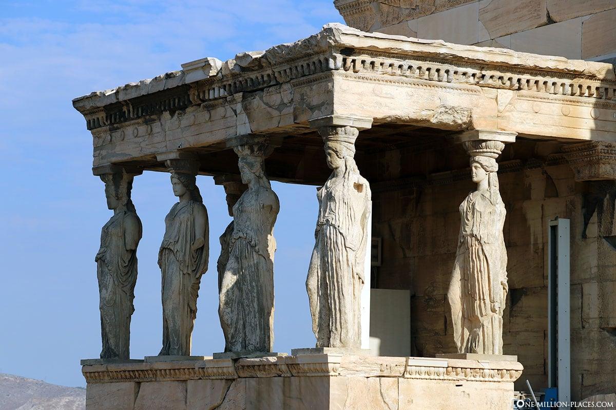 Figuren, Karyatiden, Akropolis, Athen, Griechenland, Reisebericht, Blogbeitrag