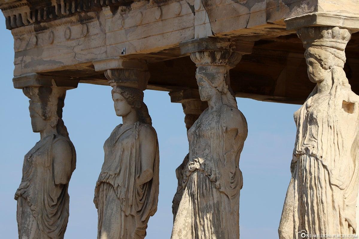 Figur, Karyatiden, Akropolis, Athen, Griechenland, Reisebericht, Blogbeitrag