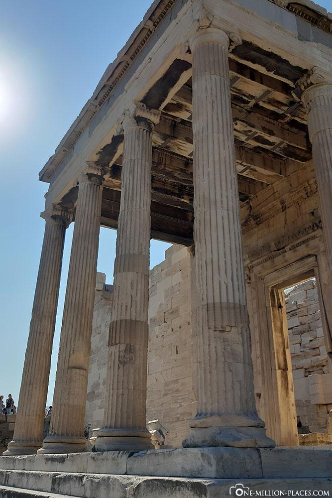 Karyatiden, Tempel, Akropolis, Athen, Griechenland, Reisebericht, Blogbeitrag