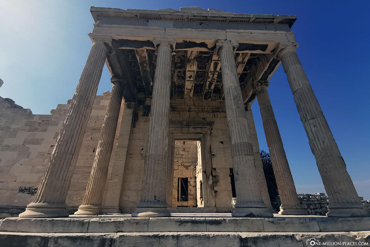 Frontansicht, Karyatiden, Akropolis, Athen, Griechenland, Reisebericht, Blogbeitrag
