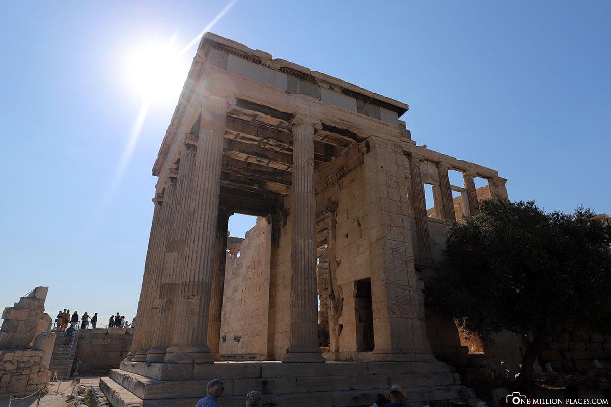 Sonne, Karyatiden, Akropolis, Athen, Griechenland, Reisebericht, Blogbeitrag