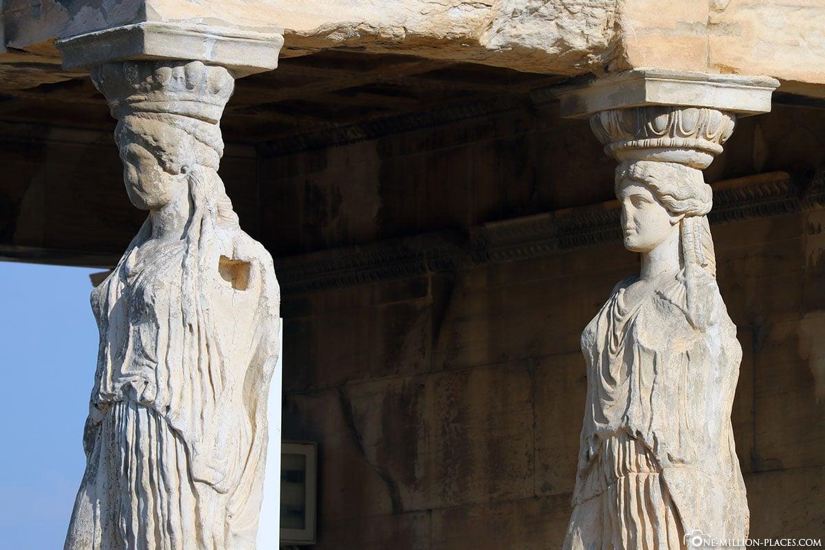 Statue, Karyatiden, Akropolis, Athen, Griechenland, Reisebericht, Blogbeitrag