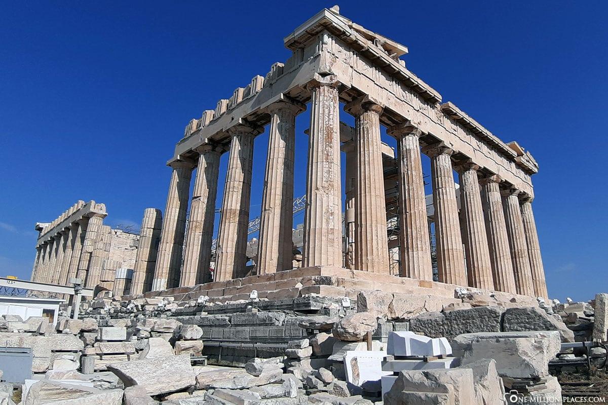 Säulen, Parthenon, Akropolis, Athen, Griechenland, Reisebericht, Blogbeitrag