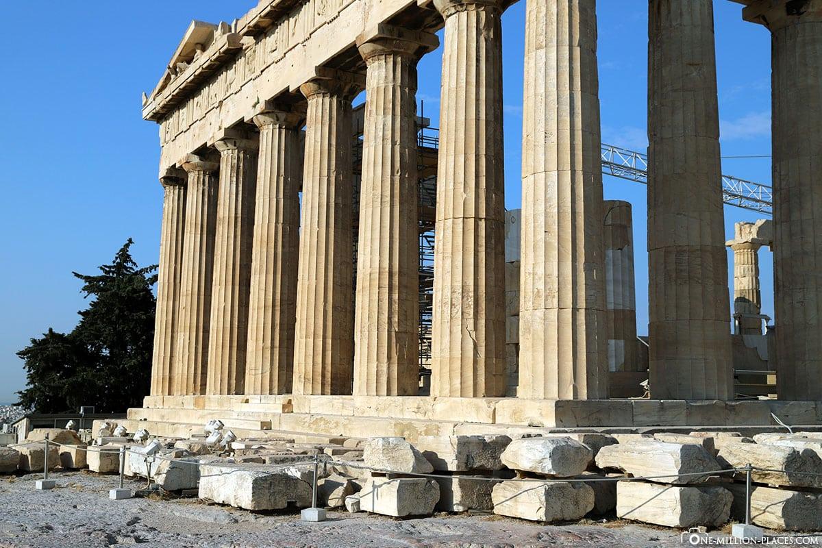 Säule, Parthenon, Akropolis, Athen, Griechenland, Reisebericht, Blogbeitrag