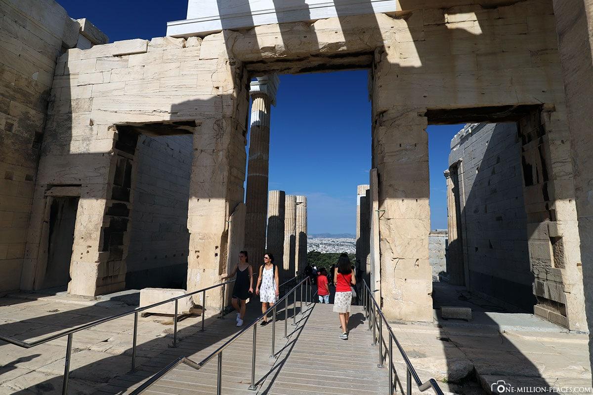 Propyläen, Tempel, Akropolis, Athen, Griechenland, Reisebericht, Blog