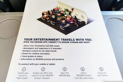Entertainment on Aegian flights