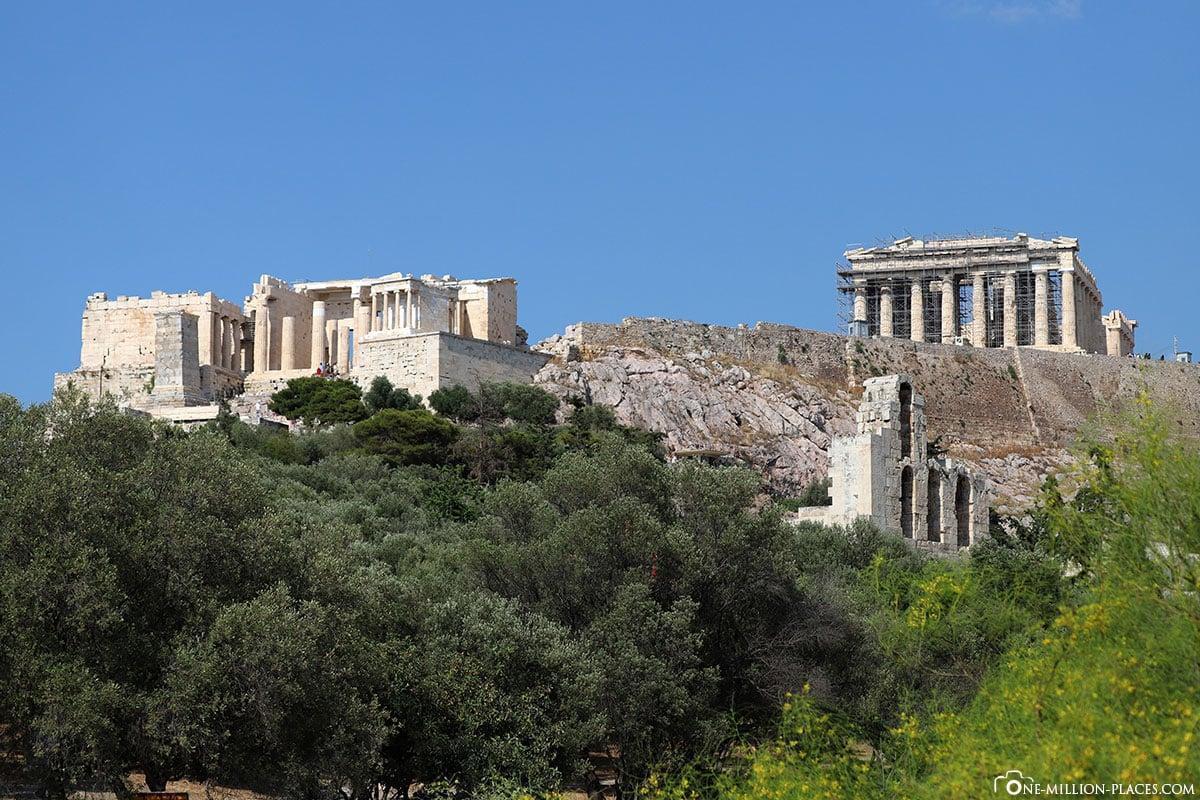 Dionysiou Aeropagitou, Akropolis, Athen, Bester Blick, Fotospot, Reisebericht