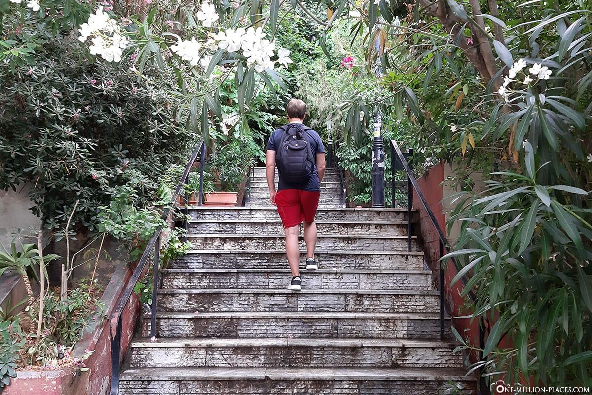 Treppen im Viertel Kolonaki, Stadtberg Lykavittos, Athen, Griechenland, Sehenswürdigkeiten, Reisebericht, Fotospot