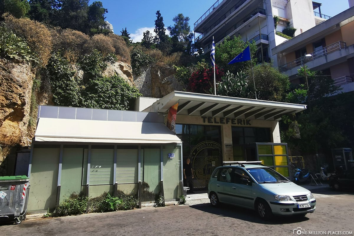 Talstation Odós Aristíppou, Stadtberg Lykavittos, Athen, Griechenland, Sehenswürdigkeiten, Reisebericht, Fotospot