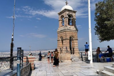 The viewing terrace on the city mountain Lykavittos