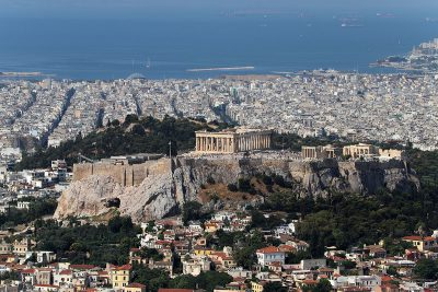 View of the Acropolis in Athens