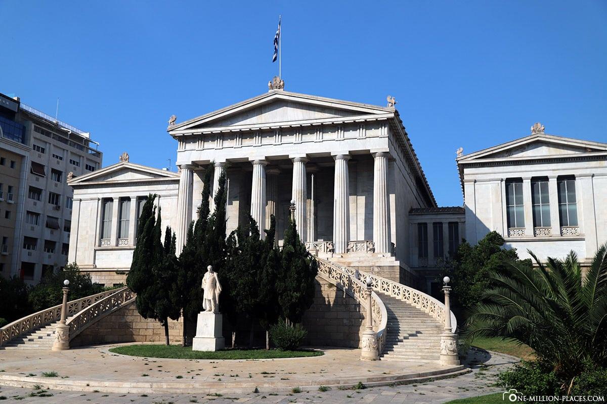 Griechische Nationalbibliothek, Athener Trilogie, Griechenland, Sehenswürdigkeiten, Reisebericht, Fotospot