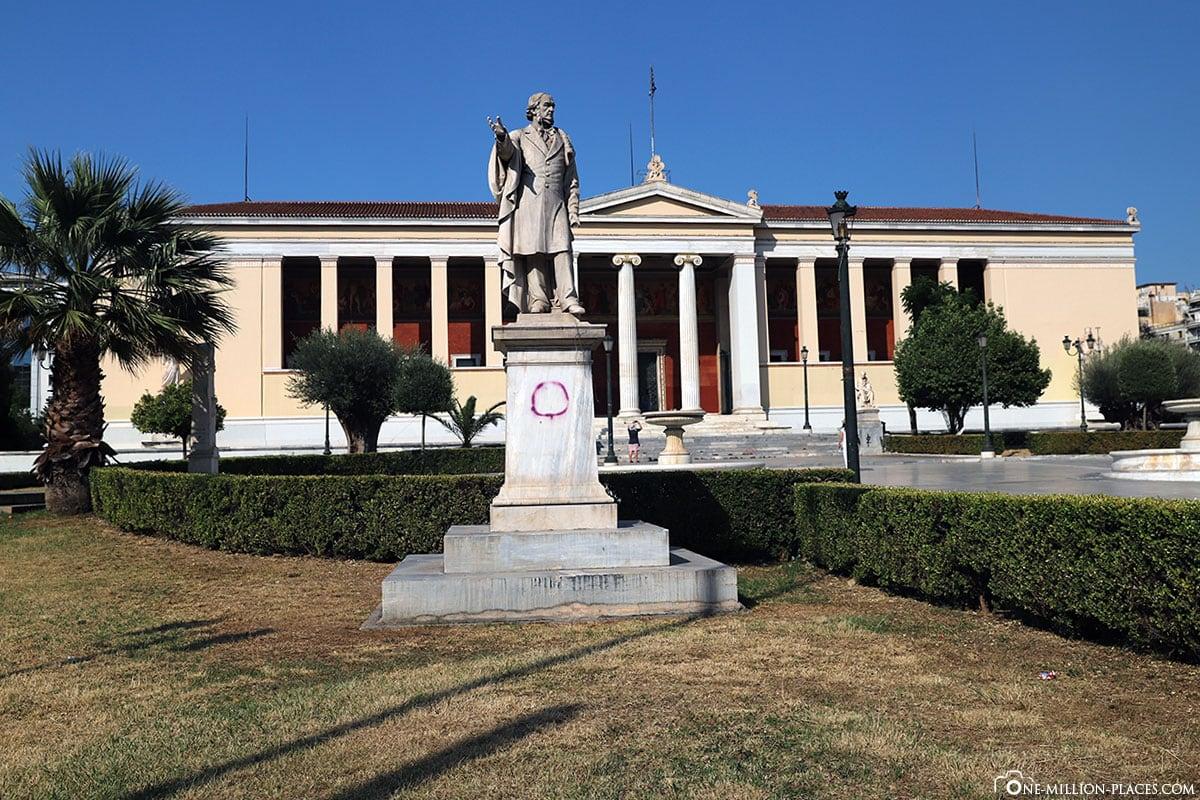 University of Athens Central Building, Athener Universität, Athener Trilogie, Griechenland, Sehenswürdigkeiten, Reisebericht, Fotospot