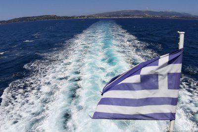 Die Fähre von Lixouri nach Argostoli