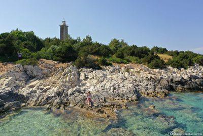 Blick auf die Küste und den Leuchtturm