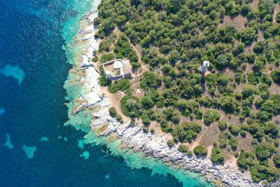 Drohnenaufnahme der Küste