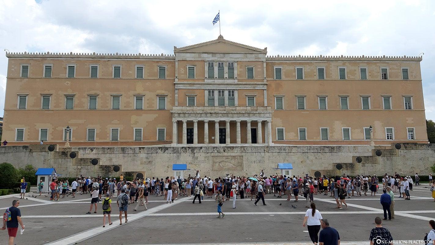Griechisches Parlament, Athen, Griechenland, Sehenswürdigkeiten, Reisebericht, Fotospot