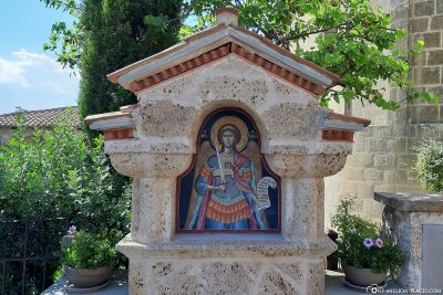 Shrine in the courtyard of the Holy Monastery of St. Stephen