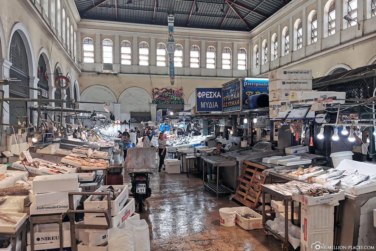 Markthalle Athen, Griechenland, Sehenswürdigkeiten, Reisebericht, Fotospot