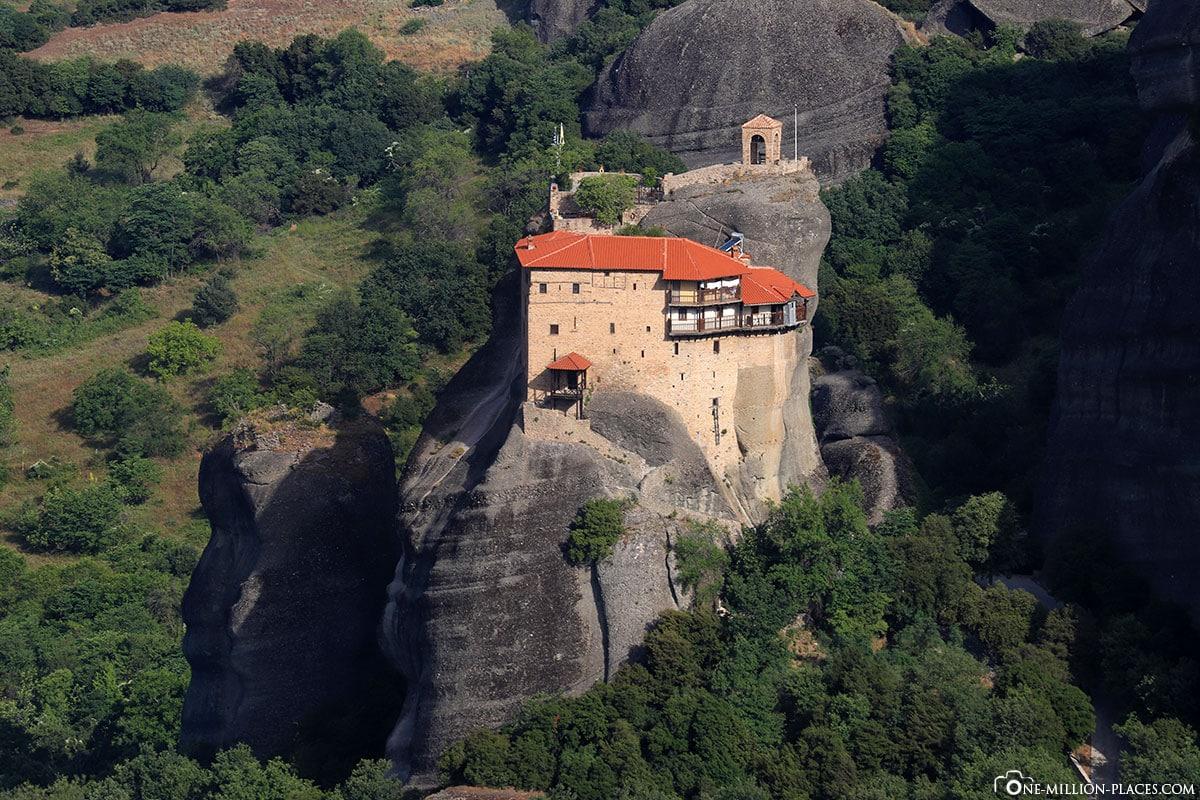 Felsen, Kloster Agios Nikolaos Anapavsas, Kalambaka, Thessalien, Griechenland, Μετέωρα, UNESCO Weltkulturerbe, Erfahrung, Tipps, Reisebericht