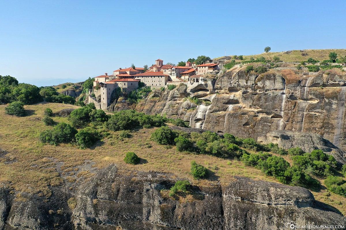 Panorama, Kloster Great Meteoro, Megálo Metéoro, Kalambaka, Thessalien, Griechenland, Μετέωρα, UNESCO Weltkulturerbe, Erfahrung, Tipps, Reisebericht