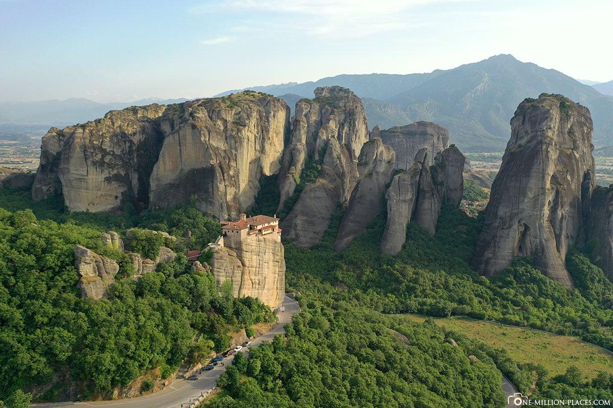 KKloster Rousanou, Meteora, Kalambaka, Thessalien, Griechenland, Μετέωρα, UNESCO Weltkulturerbe, Erfahrung, Tipps, Reisebericht