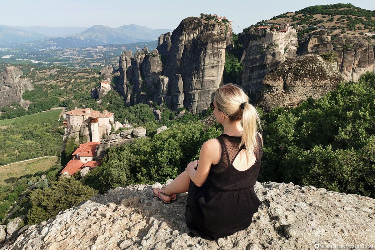 Instagram Spot, Fotospot, Kloster Rousanou, Meteora, Kalambaka, Thessalien, Griechenland, Μετέωρα, UNESCO Weltkulturerbe, Erfahrung, Tipps, Reisebericht