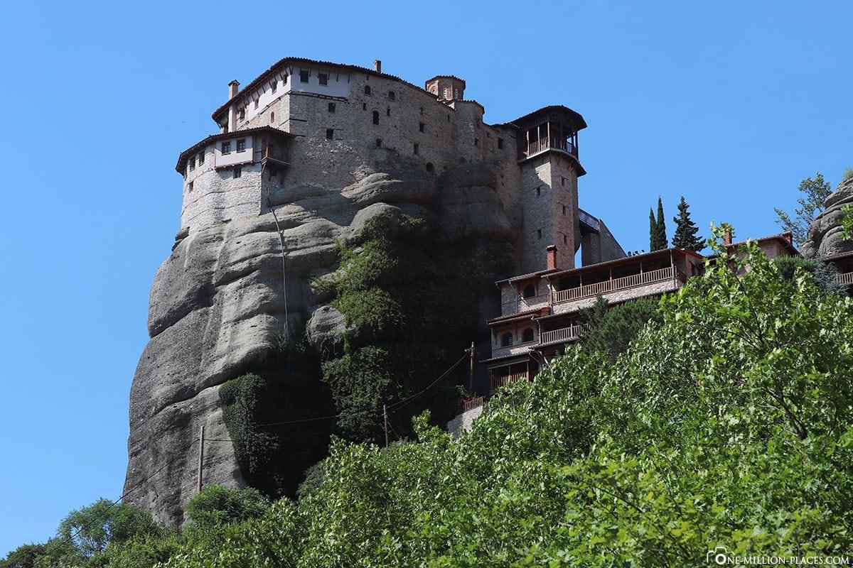 Kloster Rousanou, Meteora, Kalambaka, Thessalien, Griechenland, Μετέωρα, UNESCO Weltkulturerbe, Erfahrung, Tipps, Reisebericht