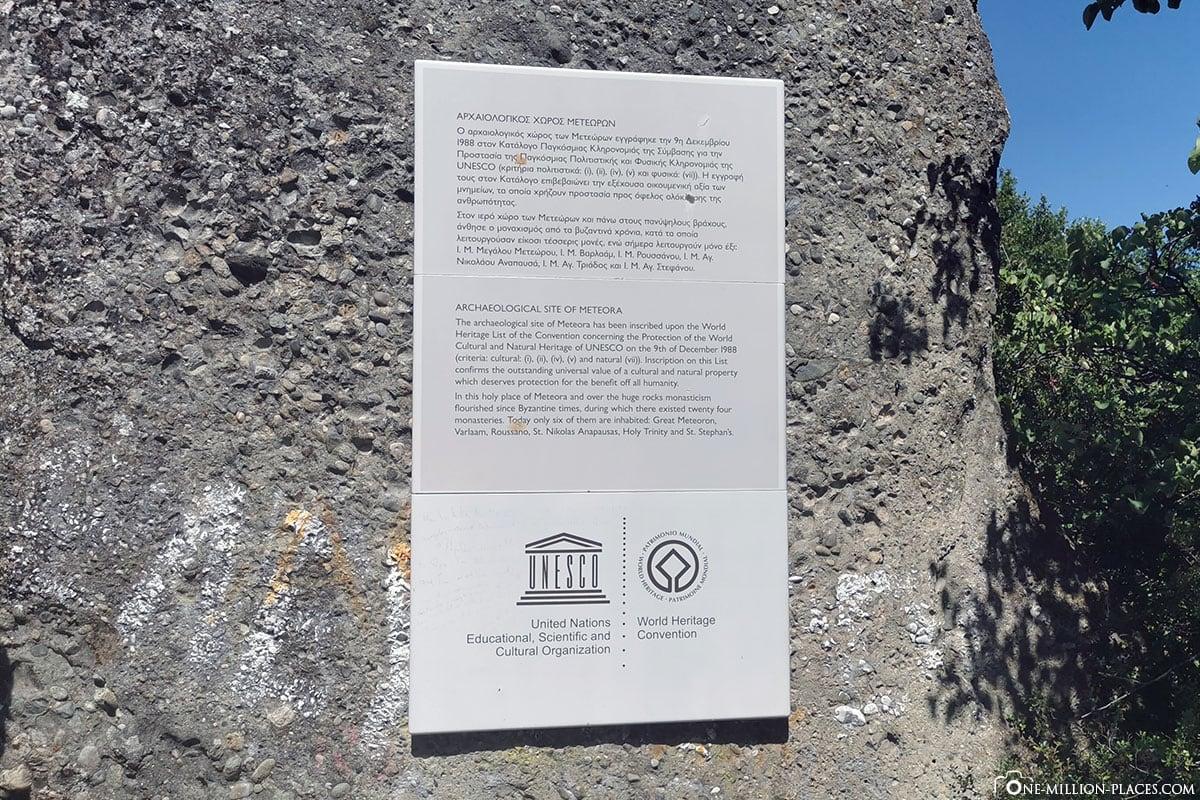 Meteora, Kalambaka, Thessalien, Griechenland, Μετέωρα, UNESCO Weltkulturerbe, Erfahrung, Tipps, Reisebericht