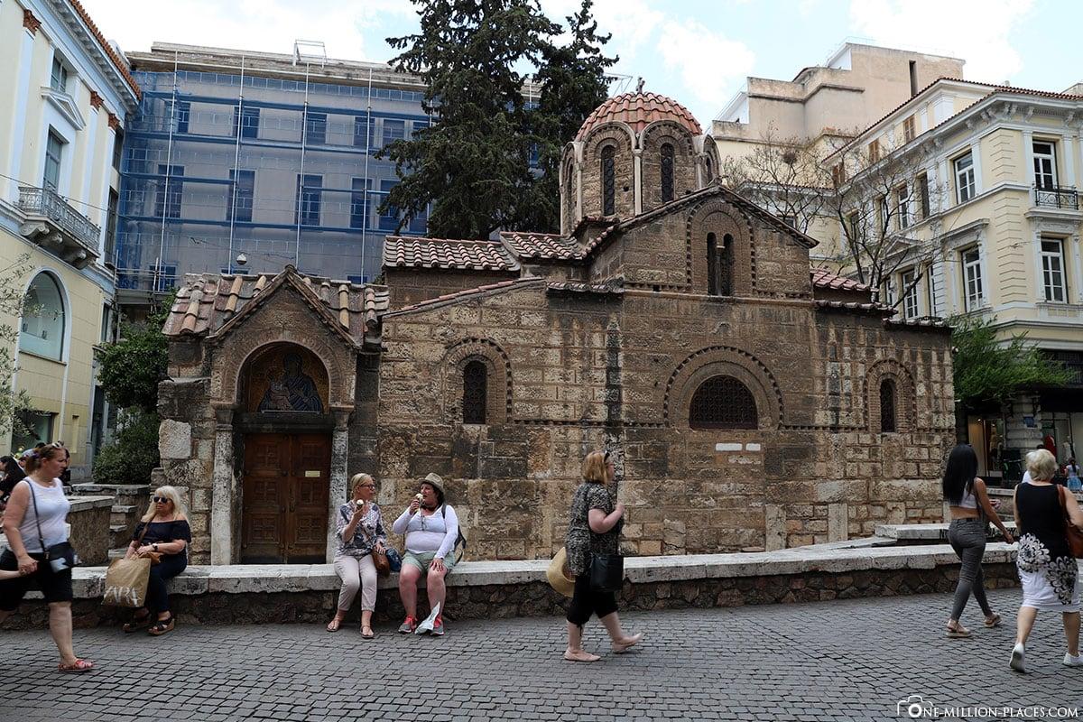 Kapnikarea-Kirche, Athen, Innenstadt, Monastiraki, Griechenland, Sehenswürdigkeiten, Auf eigene Faust, Reisebericht, Fotospot