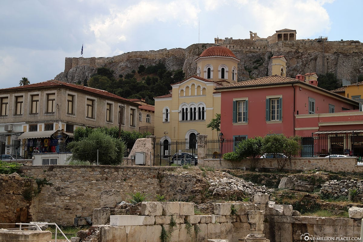 Hadriansbibliothek, Athen, Innenstadt, Monastiraki, Griechenland, Sehenswürdigkeiten, Auf eigene Faust, Reisebericht, Fotospot