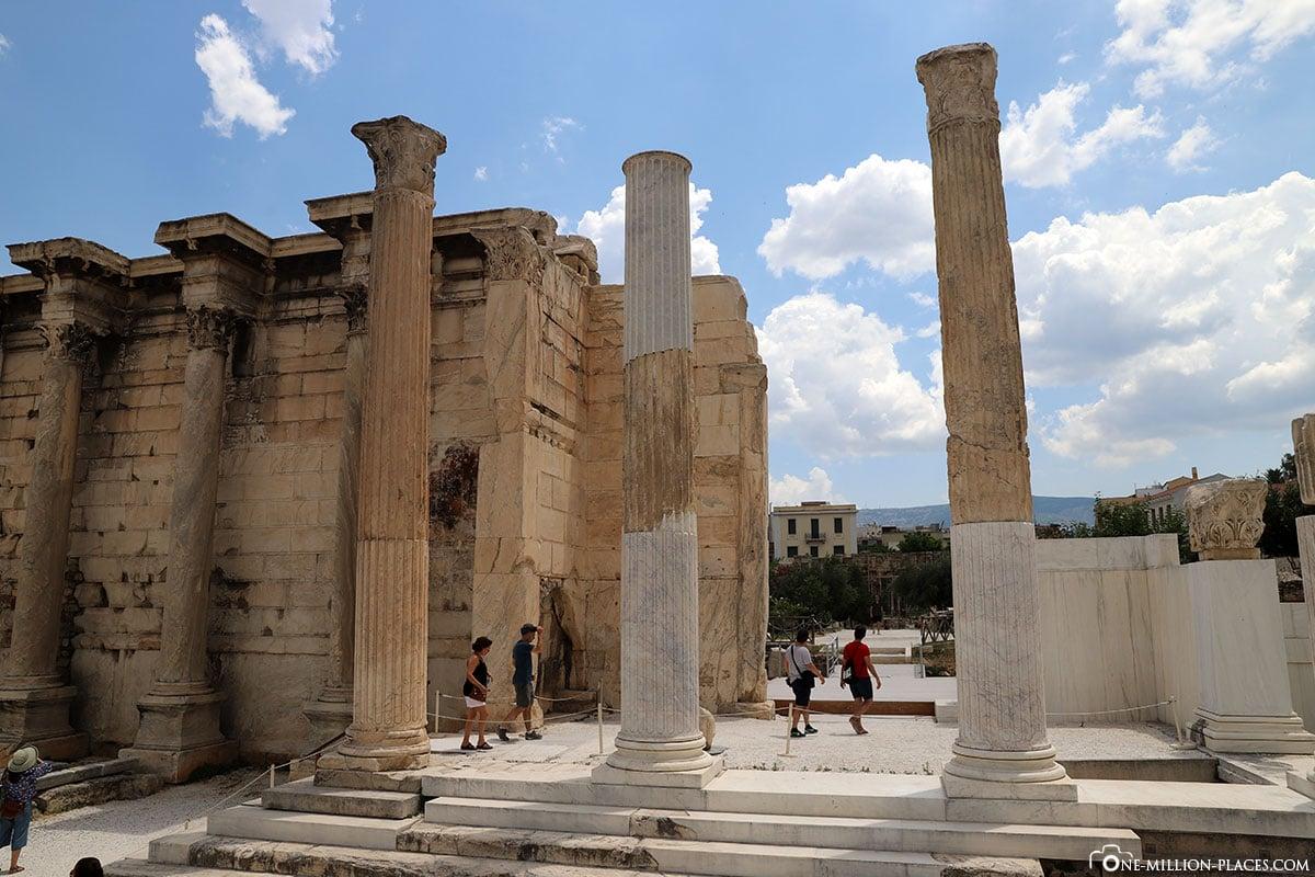 Ruinen der Hadriansbibliothek, Athen, Innenstadt, Monastiraki, Griechenland, Sehenswürdigkeiten, Auf eigene Faust, Reisebericht, Fotospot