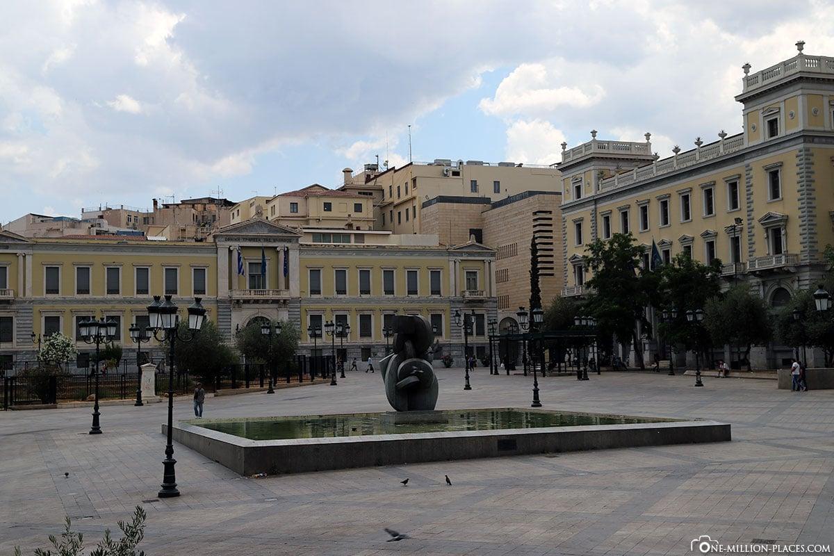 Kotzia Square, Athen, Innenstadt, Monastiraki, Griechenland, Sehenswürdigkeiten, Auf eigene Faust, Reisebericht, Fotospot