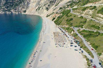 Der Myrtos Beach auf Kefalonia