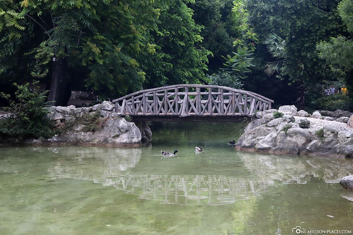 Nationalgarten, Brücke, Athen, Griechenland, Sehenswürdigkeiten, Auf eigene Faust, Reisebericht, Fotospot