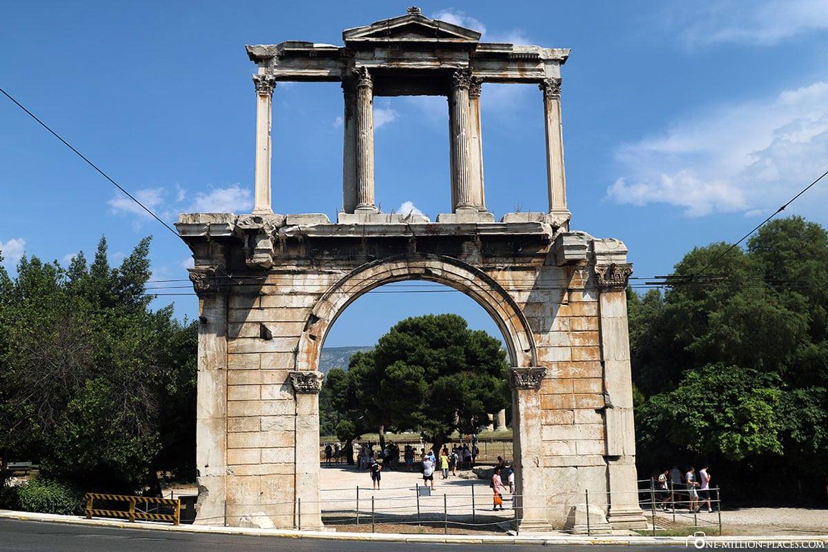 Hadrianstor, Olympieion, Athen, Griechenland, Sehenswürdigkeiten, Auf eigene Faust, Reisebericht, Fotospot