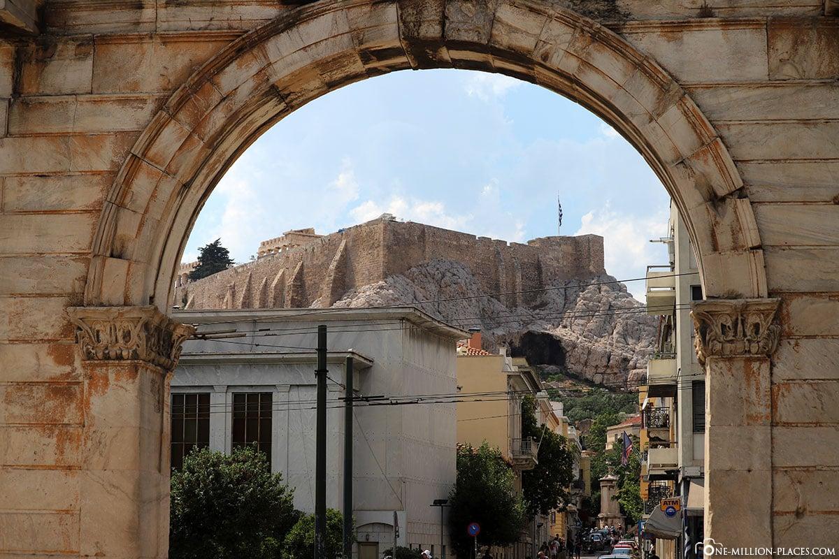 Olympieion, Hadrianstor, Athen, Griechenland, Sehenswürdigkeiten, Auf eigene Faust, Reisebericht, Fotospot