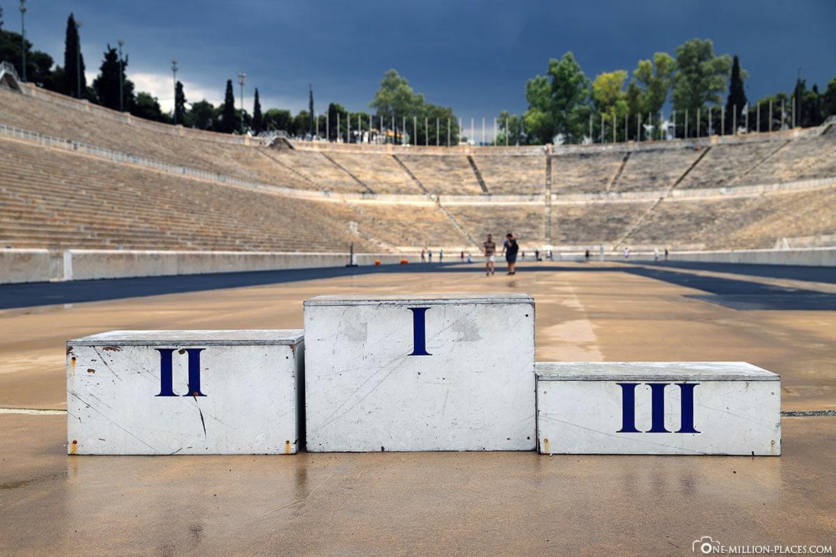 Siegertreppe, Panathenaic Stadium, Athen, Griechenland, Sehenswürdigkeiten, Auf eigene Faust, Reisebericht, Fotospot